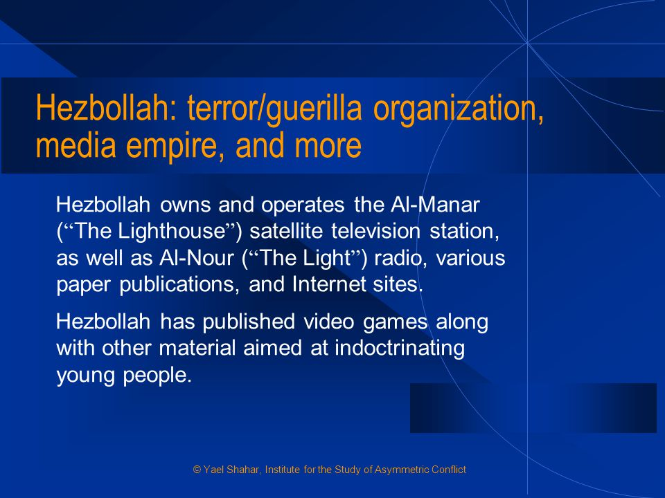 Hezbollah: terror/guerilla organization, media empire, and more