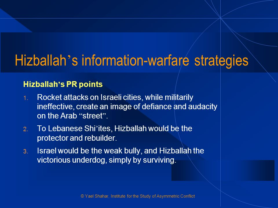 Hizballah's information-warfare strategies