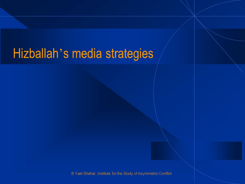 Hizballah's media strategies