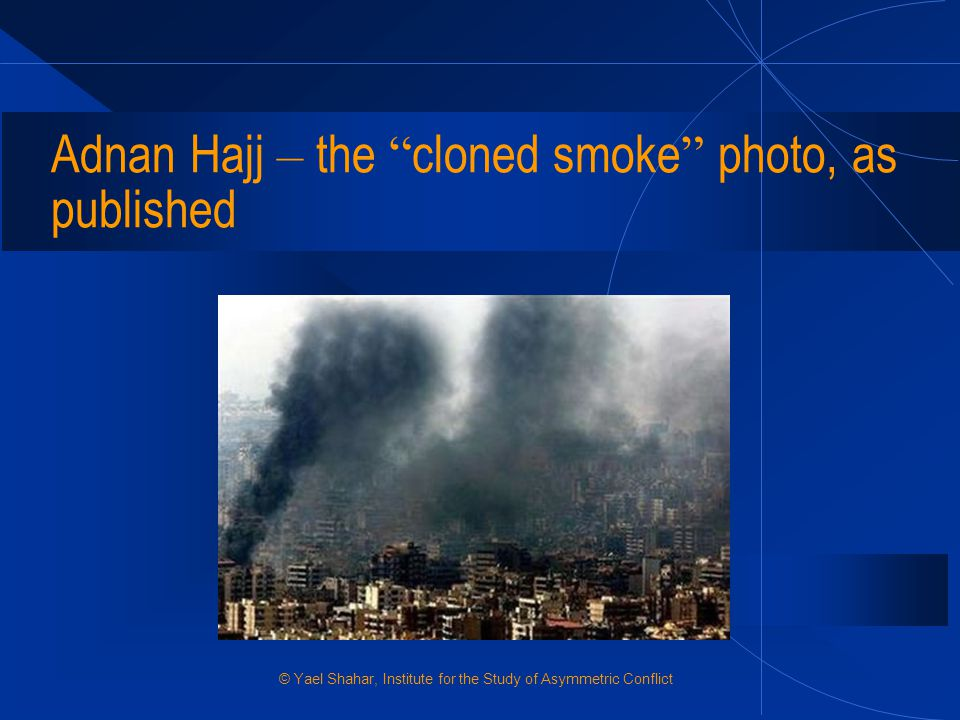 Adnan Hajj – the cloned smoke photo, as published