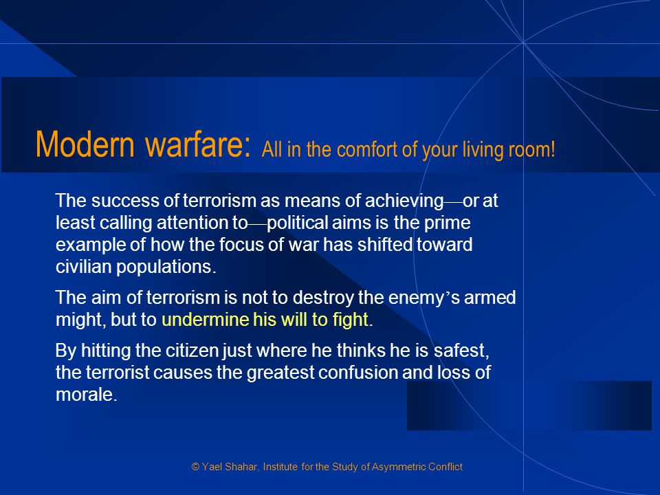 Modern warfare: All in the comfort of your living room!