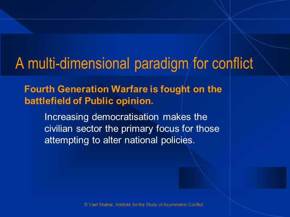 A multi-dimensional paradigm for conflict