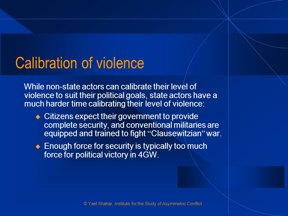 Calibration of violence