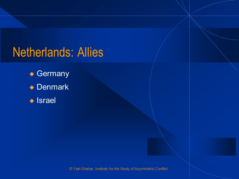 Netherlands: Allies Germany Denmark Israel