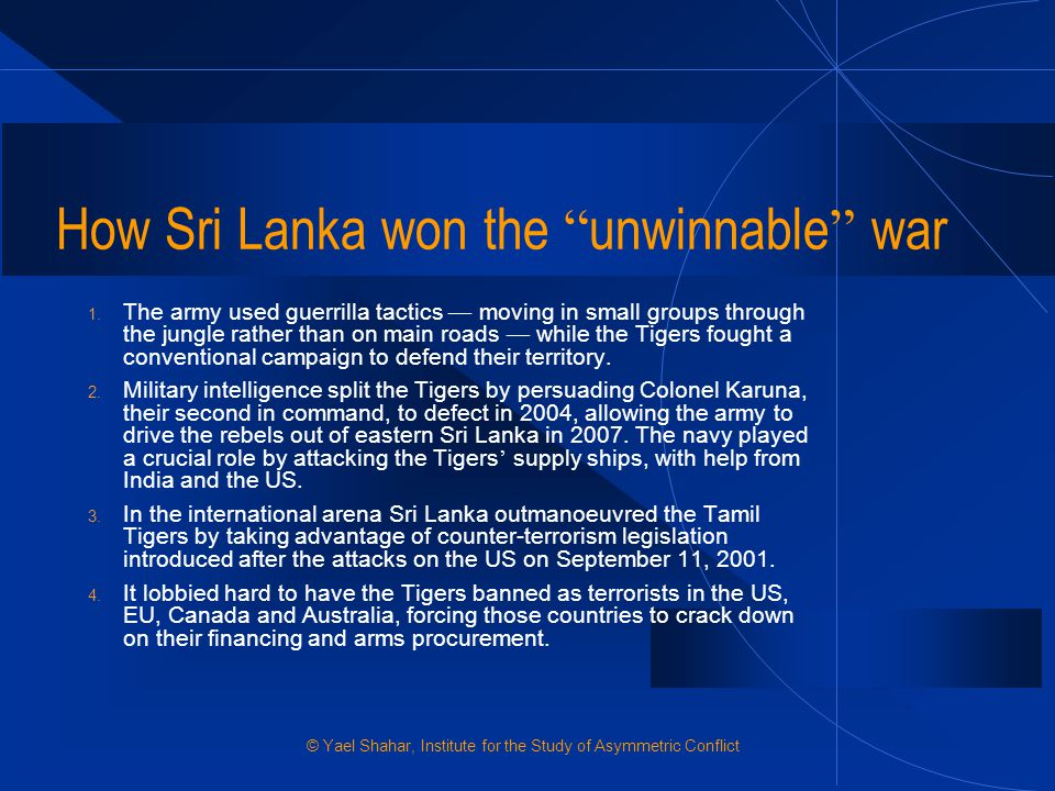 How Sri Lanka won the unwinnable war