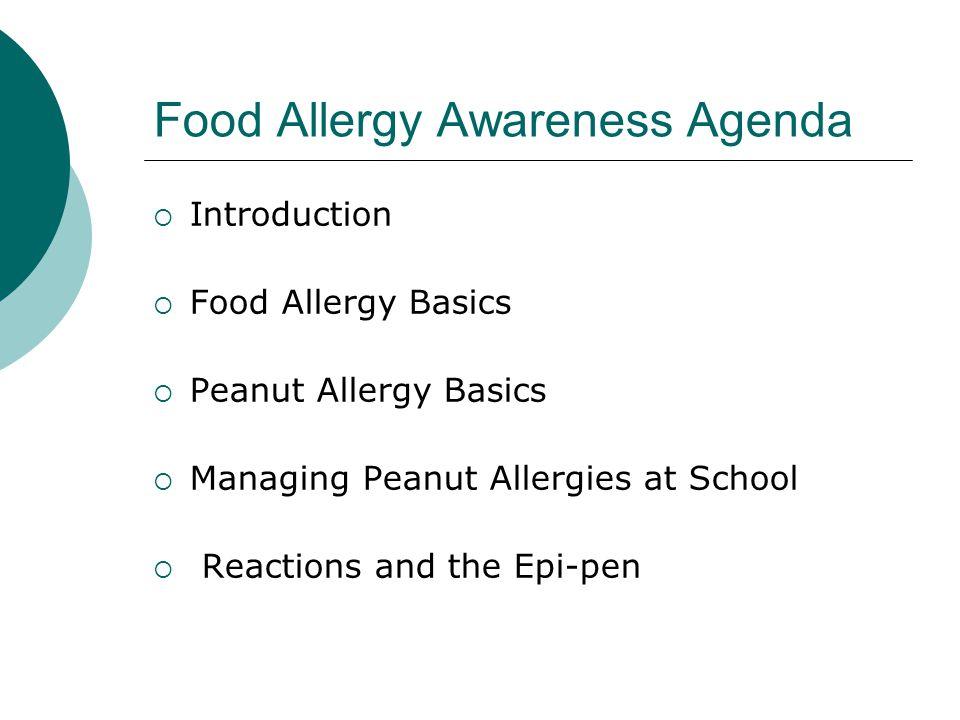 Food Allergy Awareness Agenda