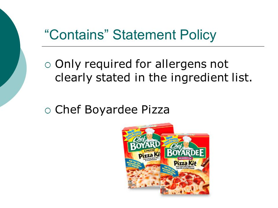 Contains Statement Policy