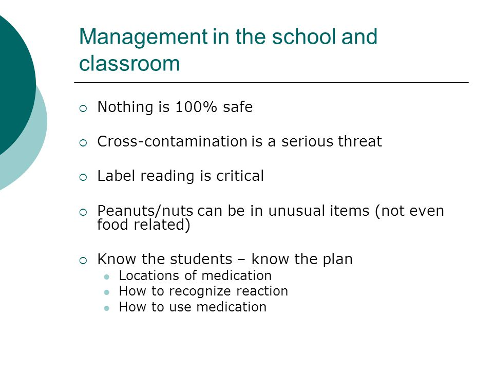 Management in the school and classroom