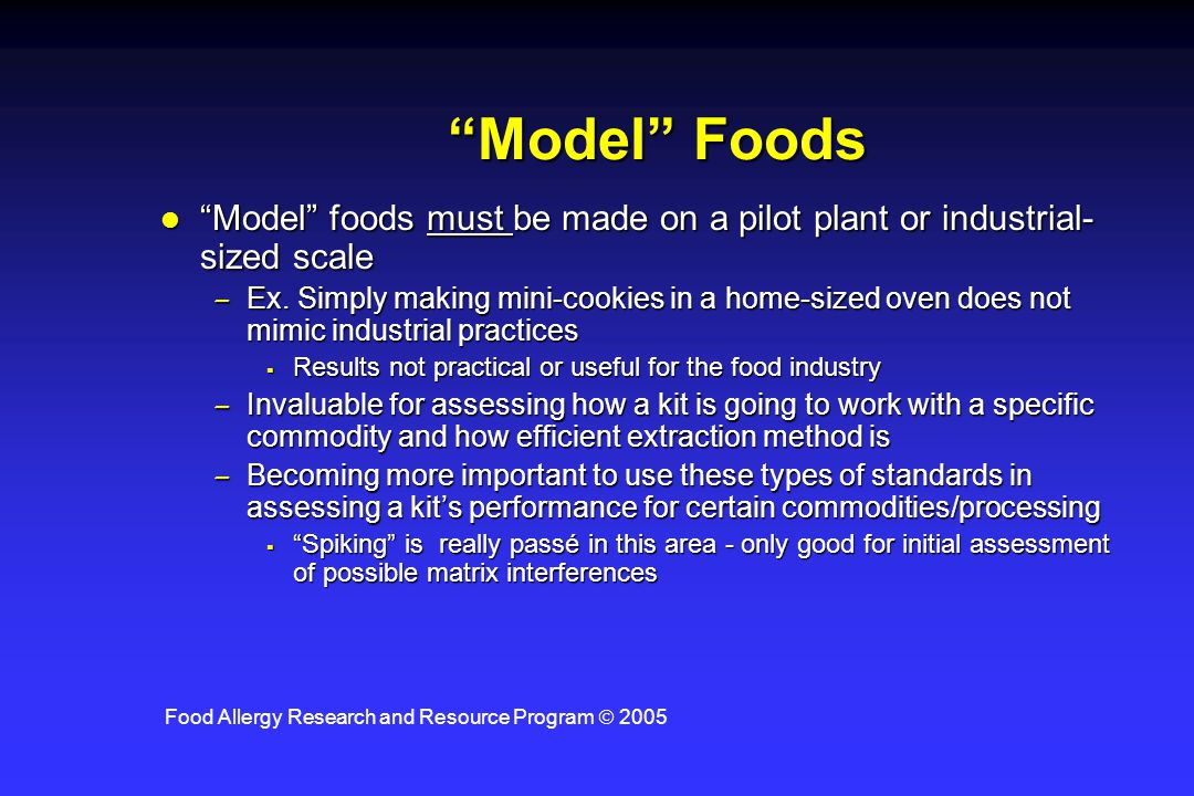 Food Allergy Research and Resource Program  2005