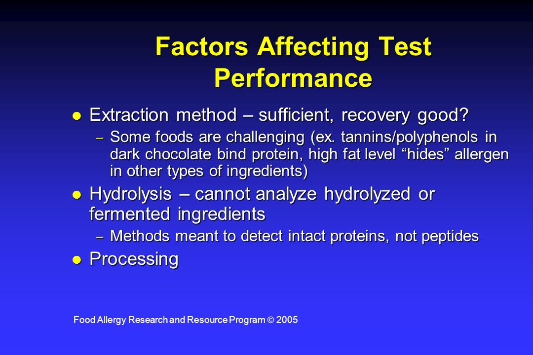Factors Affecting Test Performance