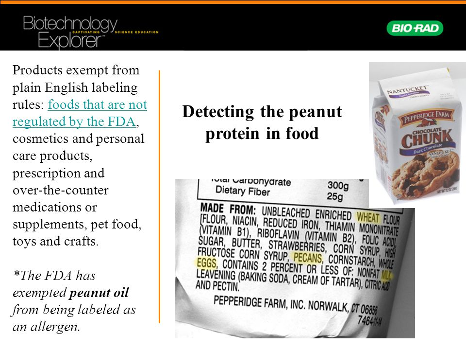 Detecting the peanut protein in food