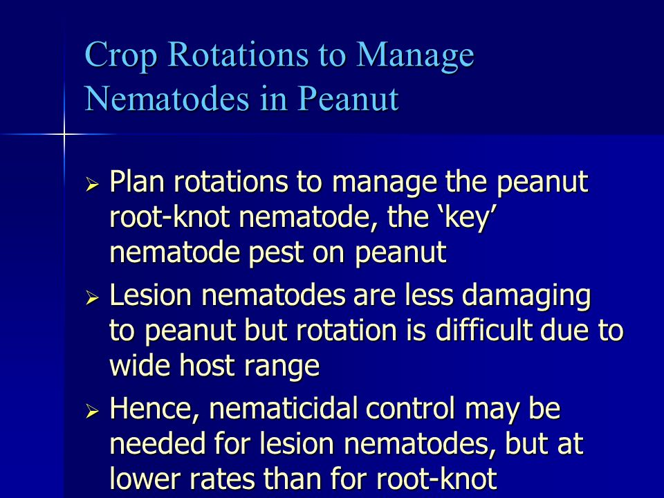 Crop Rotations to Manage Nematodes in Peanut