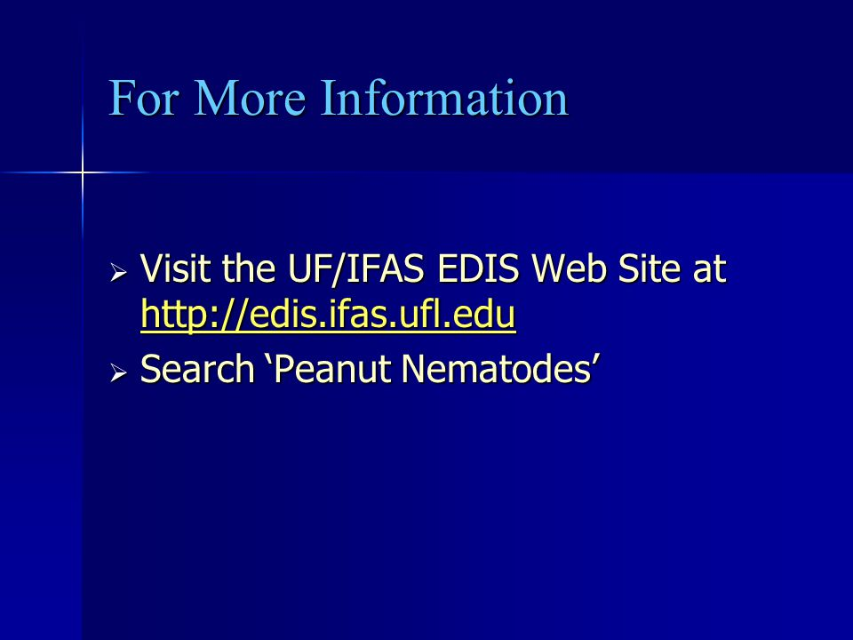 For More Information Visit the UF/IFAS EDIS Web Site at http://edis.ifas.ufl.edu.