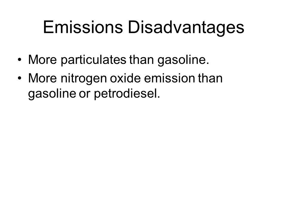 Emissions Disadvantages