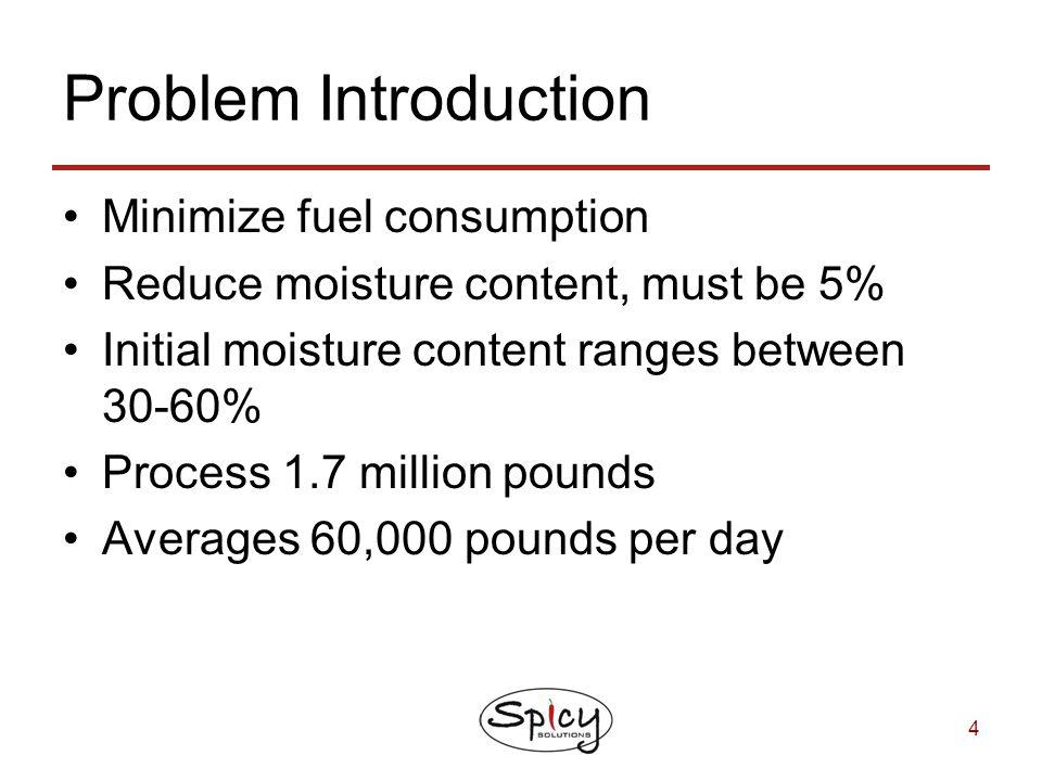 Problem Introduction Minimize fuel consumption