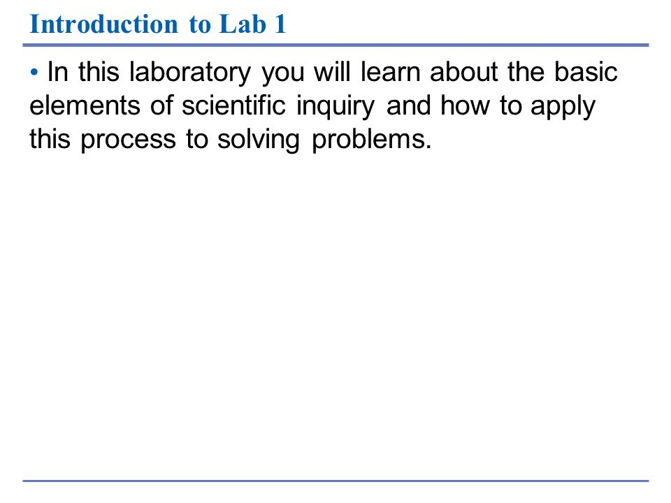 Introduction to Lab 1