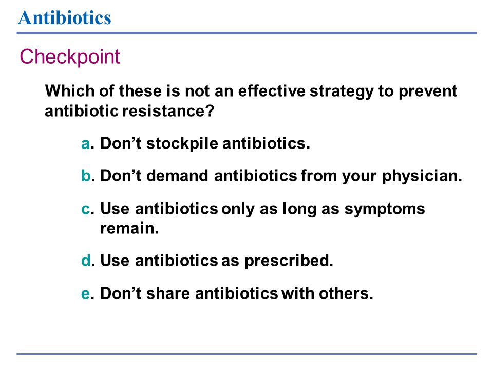 Antibiotics Checkpoint