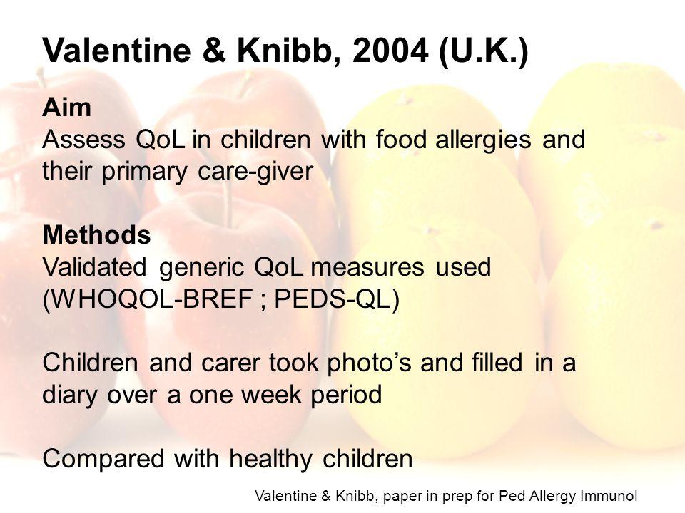 Valentine & Knibb, 2004 (U.K.) Aim