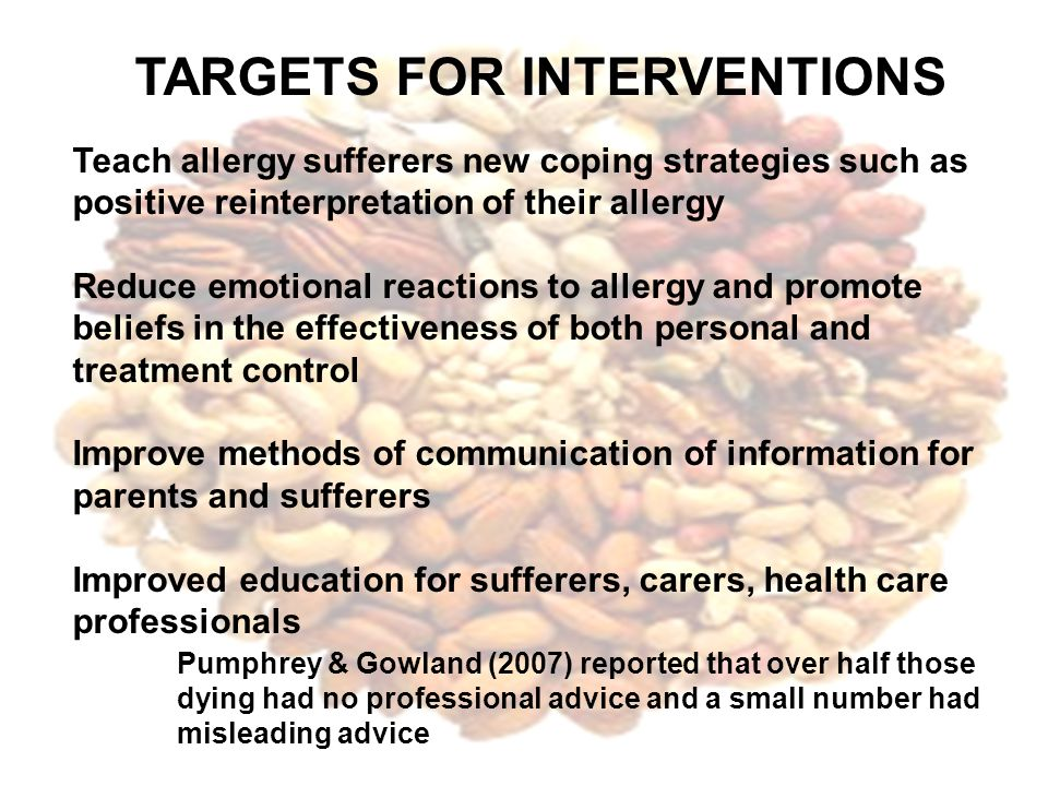 TARGETS FOR INTERVENTIONS