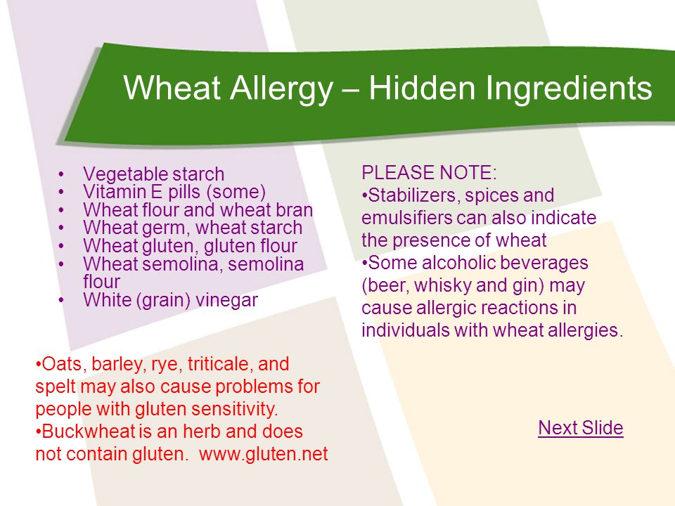 Wheat Allergy – Hidden Ingredients