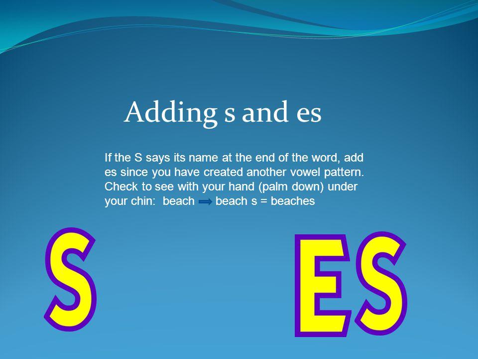 Adding s and es
