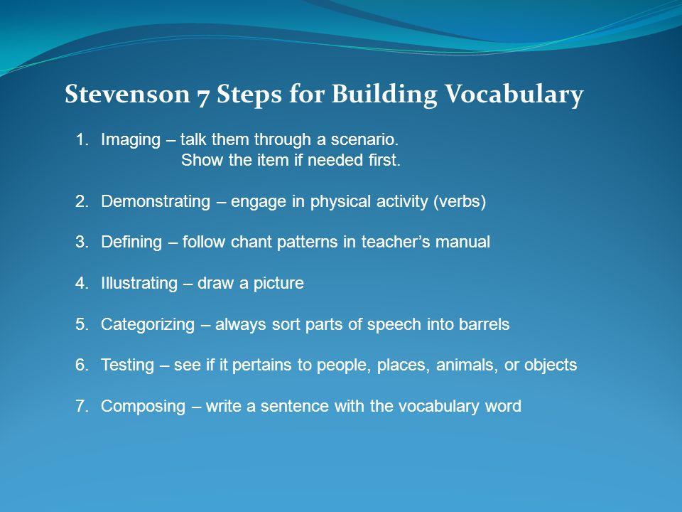 Stevenson 7 Steps for Building Vocabulary