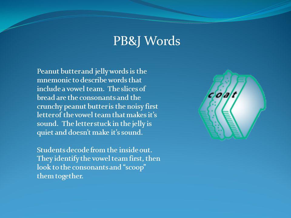 PB&J Words