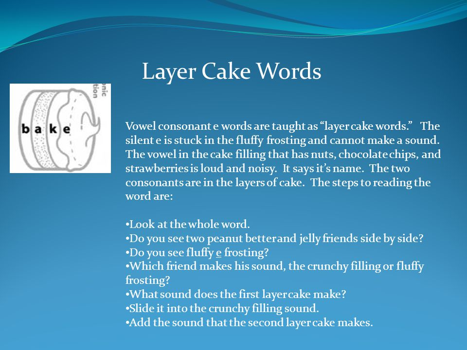 Layer Cake Words
