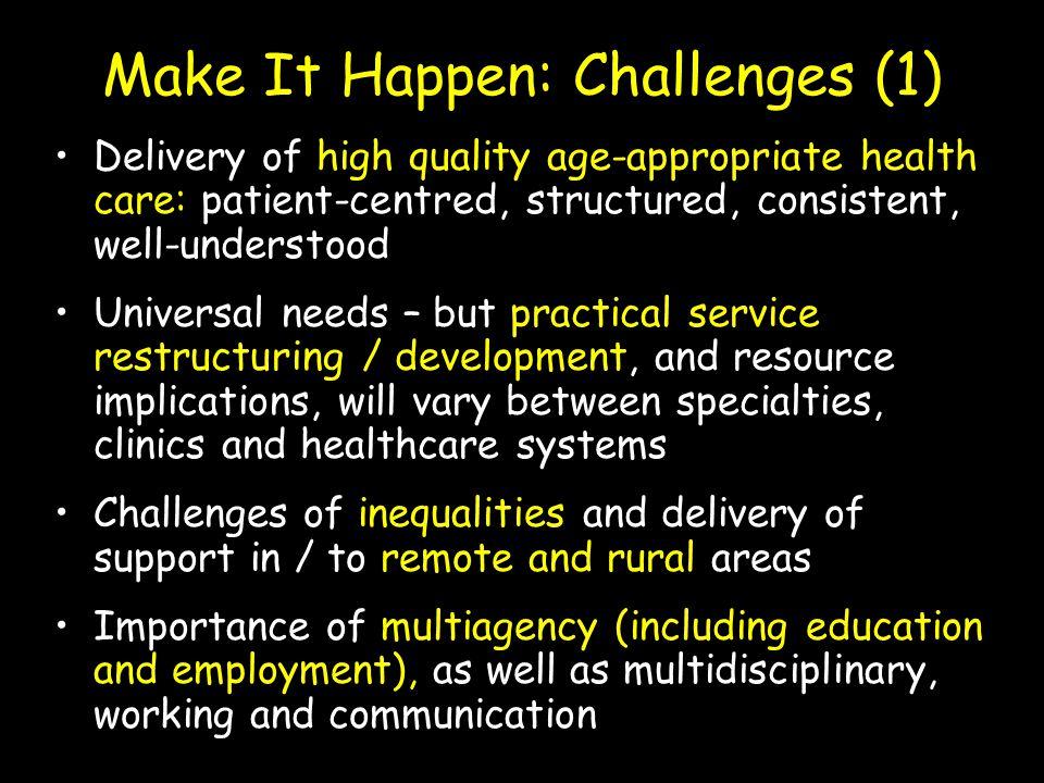 Make It Happen: Challenges (1)