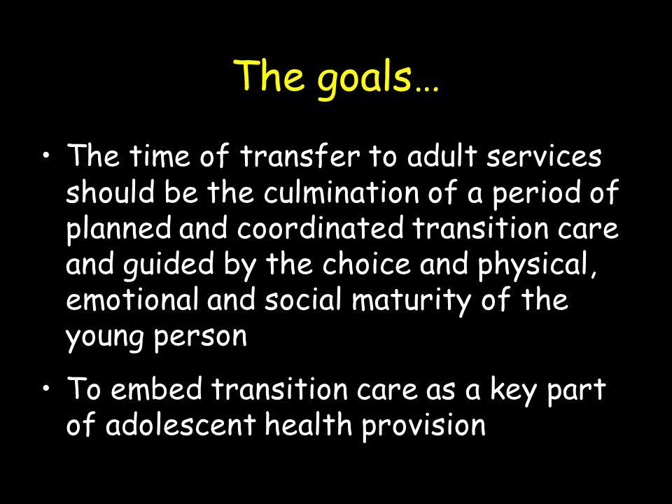 The goals…