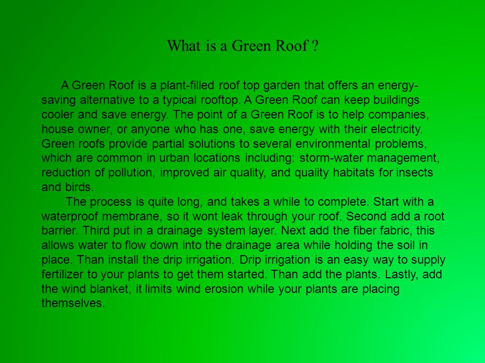 What is a Green Roof