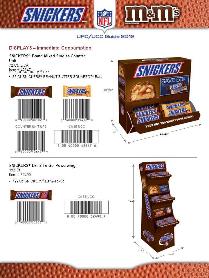 DISPLAYS – Immediate Consumption