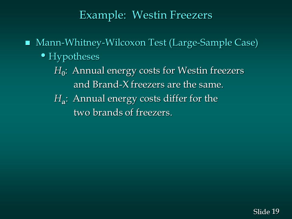 Example: Westin Freezers