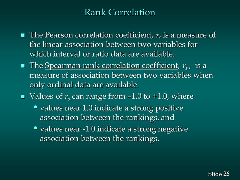 Rank Correlation
