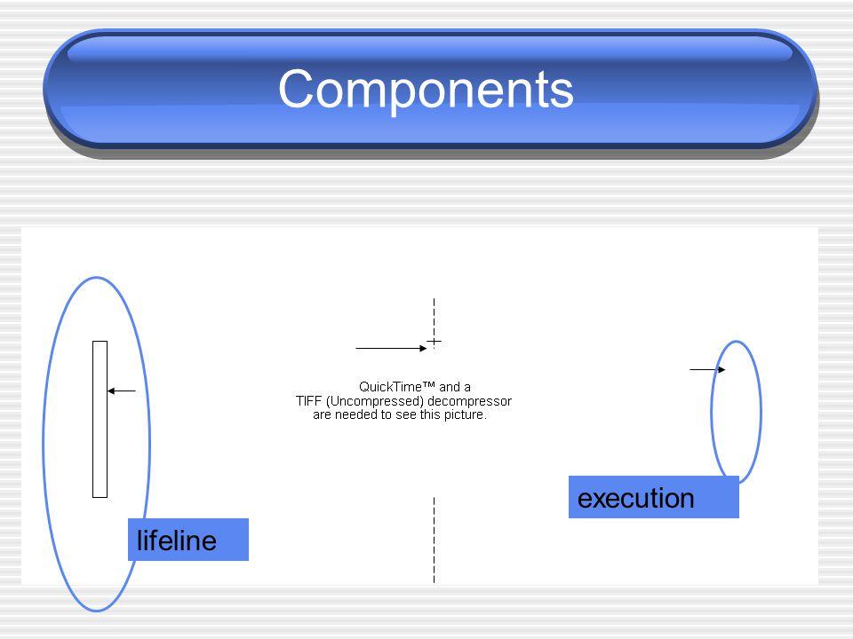 Components execution lifeline