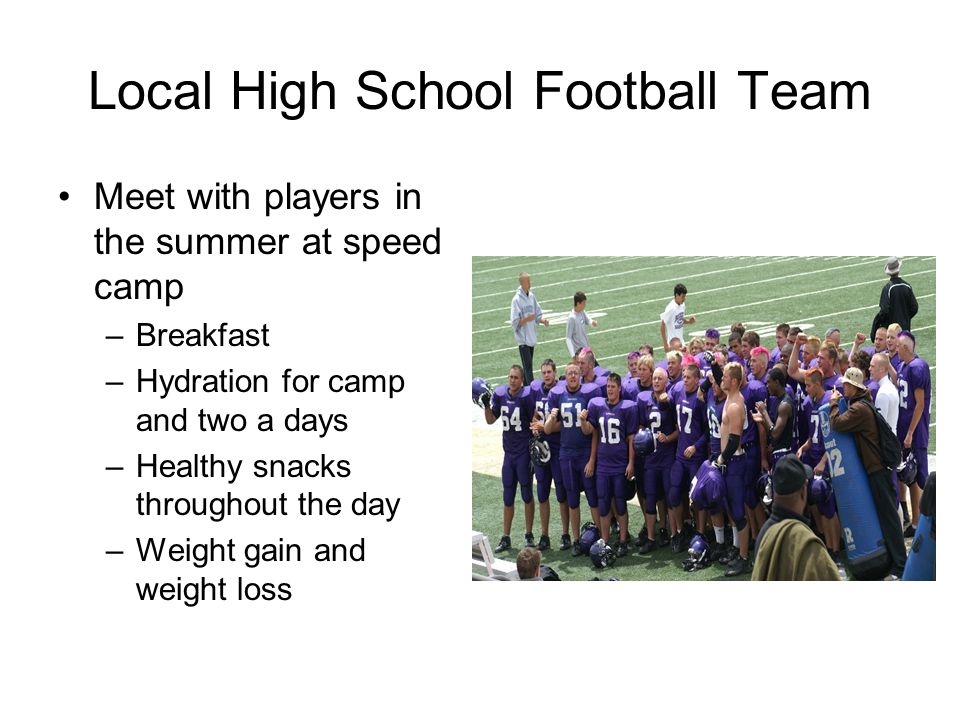 Local High School Football Team