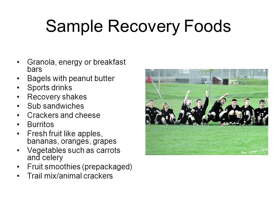 Sample Recovery Foods Granola, energy or breakfast bars