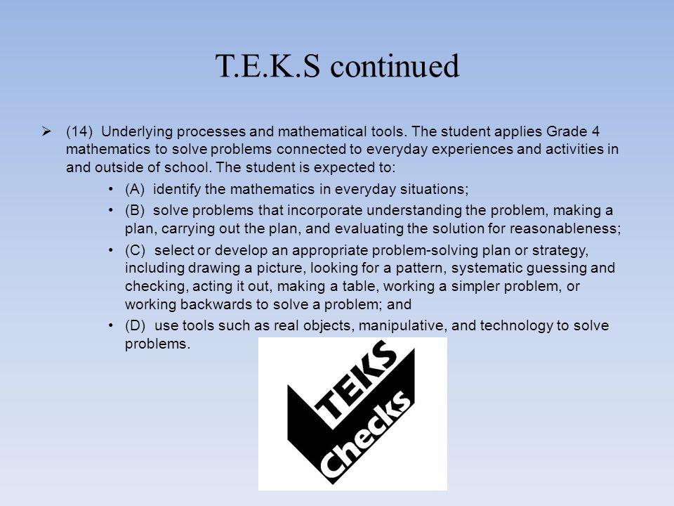 T.E.K.S continued