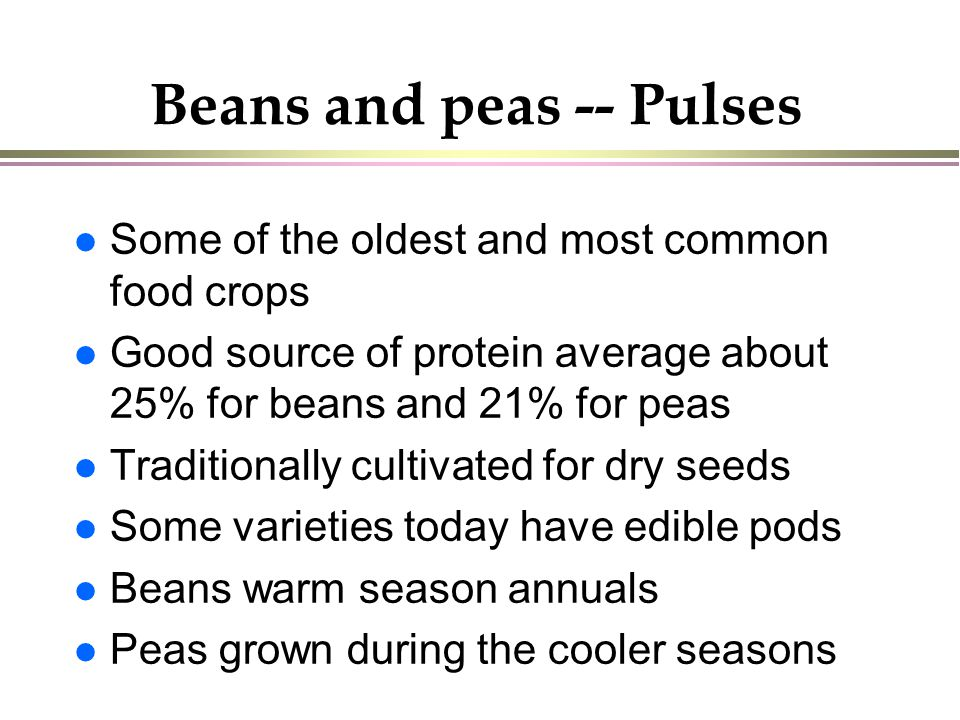 Beans and peas -- Pulses