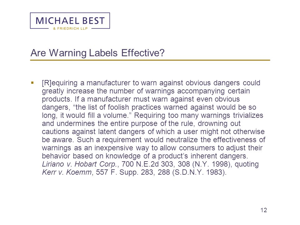 Are Warning Labels Effective