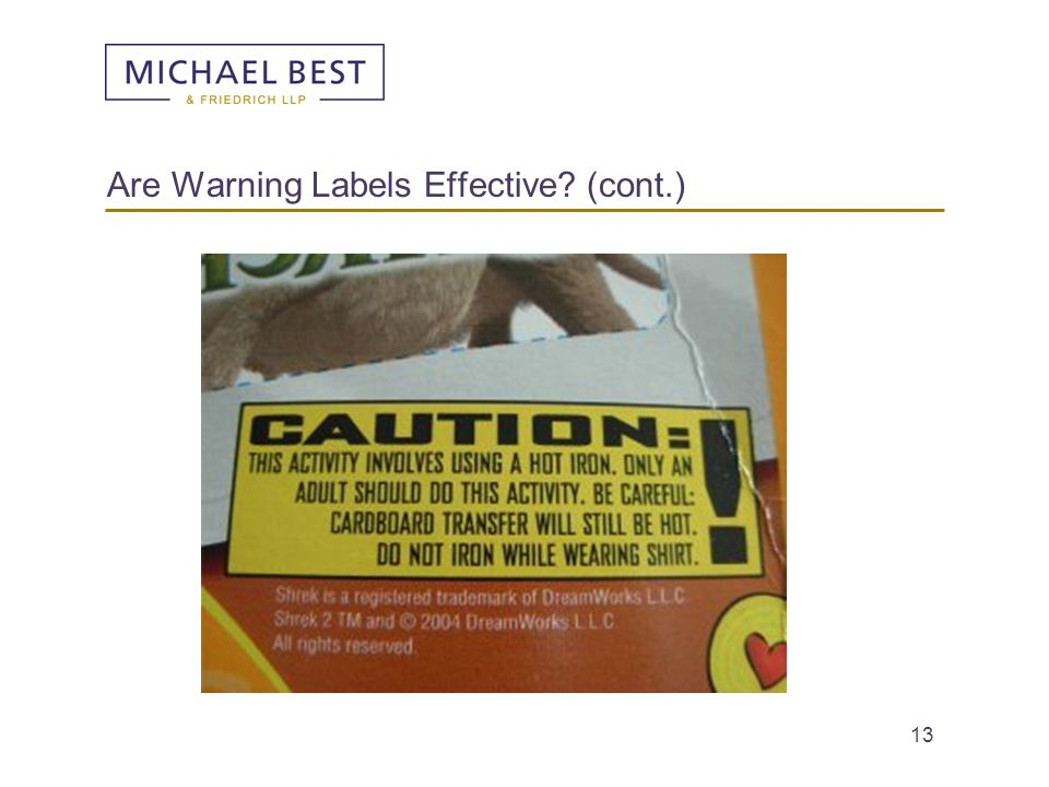 Are Warning Labels Effective (cont.)