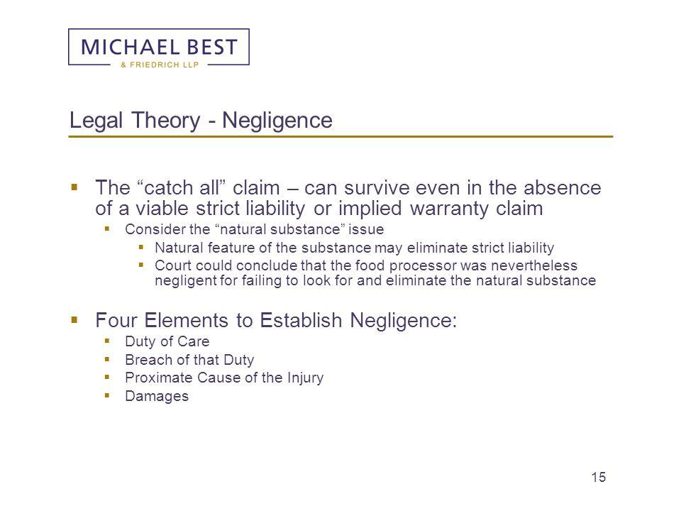 Legal Theory - Negligence