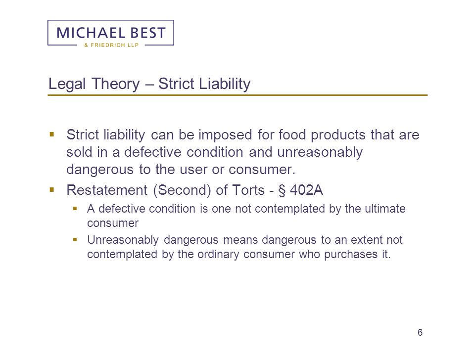 Legal Theory – Strict Liability