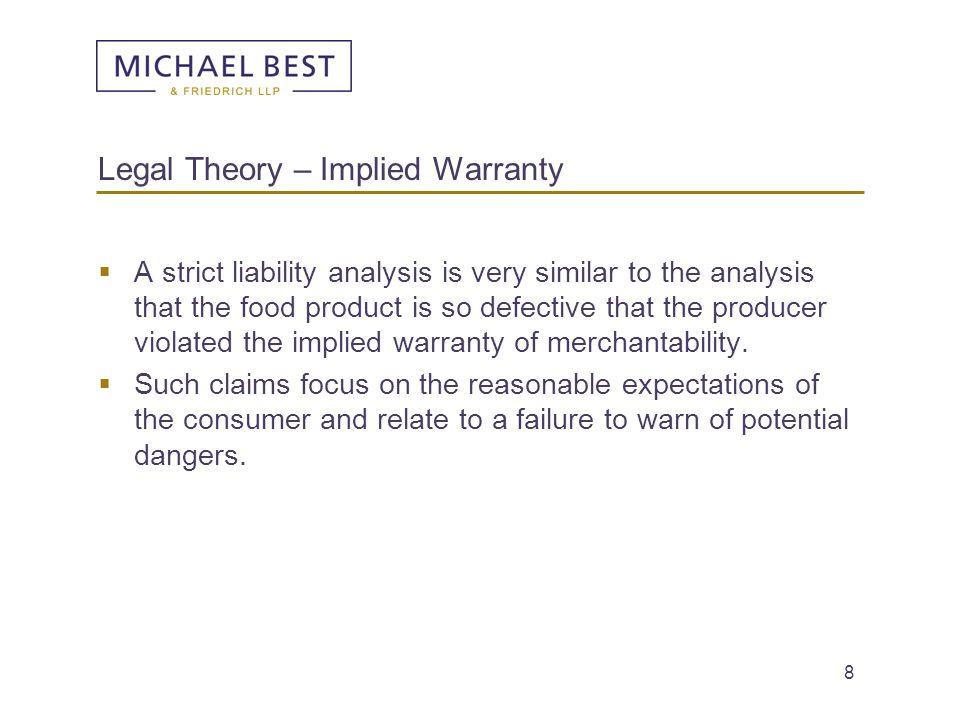 Legal Theory – Implied Warranty