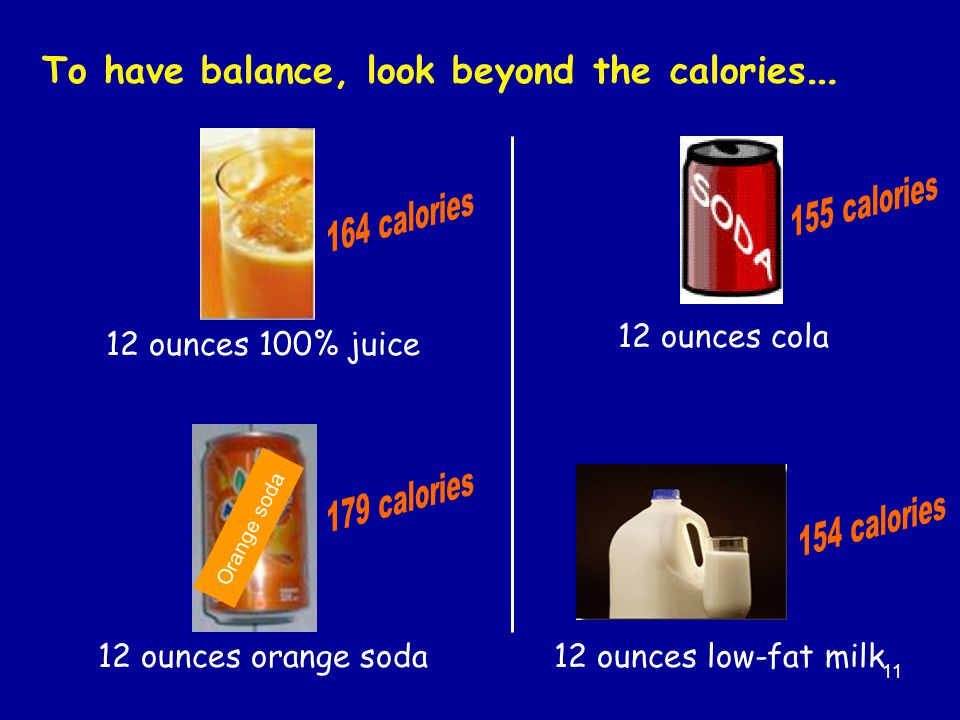To have balance, look beyond the calories…