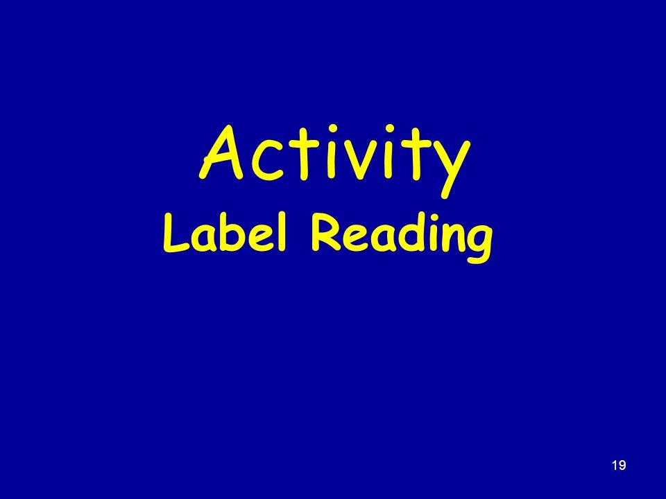 Activity Label Reading