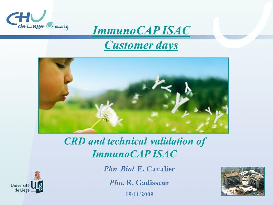 ImmunoCAP ISAC Customer days