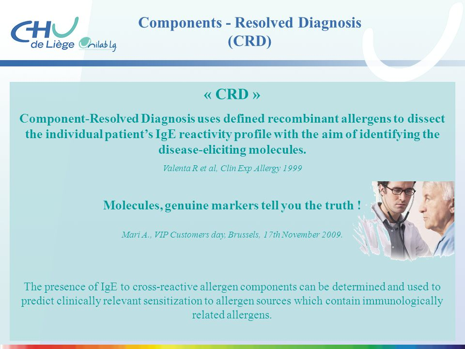 Components - Resolved Diagnosis (CRD)