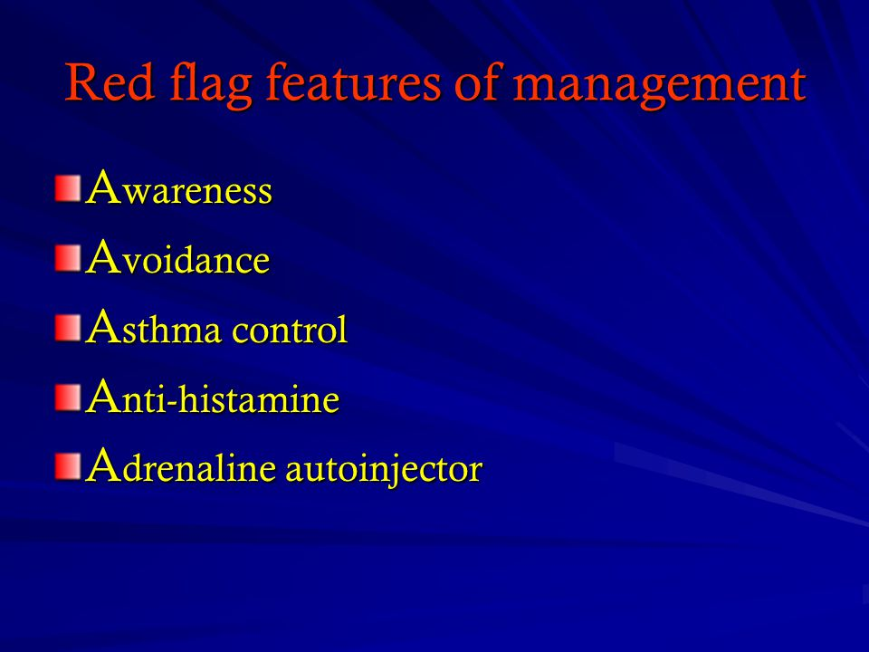 Red flag features of management