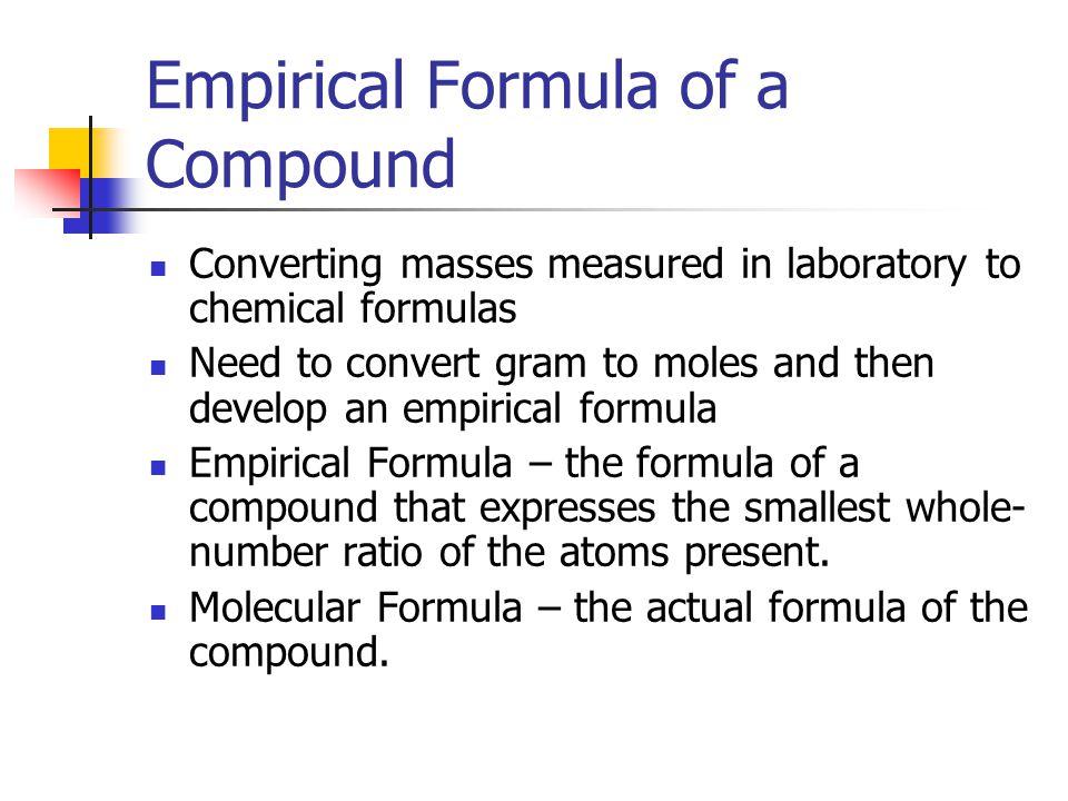 Empirical Formula of a Compound